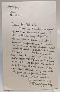 "Autographed Letter Signed (A.L.S.) ""Noel Langley"