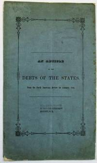 AN ARTICLE ON THE DEBTS OF THE STATES. FROM THE NORTH AMERICAN REVIEW, FOR JANUARY, 1844