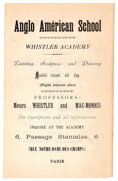 [Whistler Teaches in Paris]. Anglo...