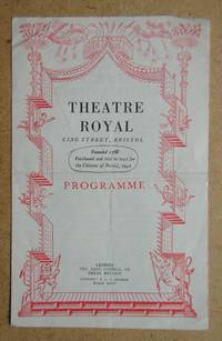 Theatre Royal. King Street, Bristol. Programme. September 10th 1945.