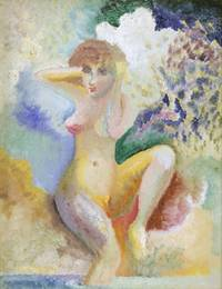 Seated Nude On Shore, One Leg In Water