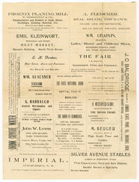 [PROMOTIONAL LETTER SHEET TOUTING THE ADVANTAGES OF ALBUQUERQUE, NEW MEXICO AND NUMEROUS LOCAL BUSINESSES]
