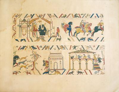 La Tapisserie de Bayeux représentant...