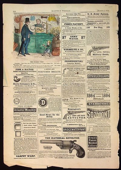 Harper's Weekly, 1862. Paperback. Paperback. Includes 1 hand colored ad -