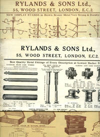 image of Shop Fittings   Rylands & Sons Ltd., Manufacturing Stationers and Printers   Paper Catalogues for: Window Display Stands; Office Furniture; Metal Fittings [7 Folded Paper Catalogues]