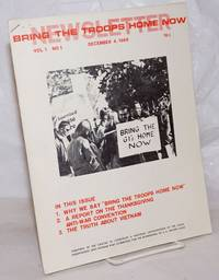 image of Bring the troops home now newsletter.  Vol. 1, no. 1, December 4, 1965