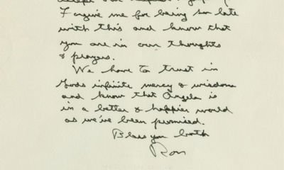 20/04/1985. Ronald Reagan This is the most personal religious letter we have ever seen from a presid...