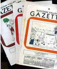 RACCOON VALLEY GAZETTE For the Months of March, April, July, May, August  and November, October and Juen of 1957, 8 Publications in All