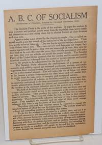 A.B.C. of Socialism.  (Declaration of principles, adopted by Cleveland Convention, 1924)