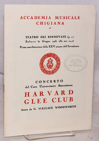 Concerto del Coro Universitario Statitense Harvard Glee Club by  director  G. Wallace - Paperback - 1956 - from Bolerium Books Inc., ABAA/ILAB and Biblio.com