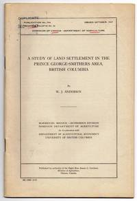 image of A Study of Land Settlement in the Prince George-Smithers Area, British Columbia