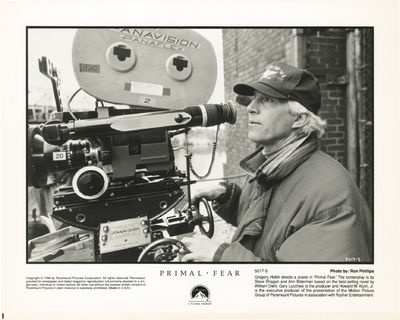Los Angeles: Paramount Pictures, 1996. Two vintage reference photographs on the set of the 1996 film...