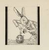 View Image 1 of 6 for ORIGINAL PEN-AND-INK PORTRAITS OF THE MAD HATTER, DORMOUSE, and MARCH HARE AT THE MAD TEA PARTY (Fro... Inventory #003040