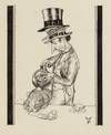View Image 3 of 6 for ORIGINAL PEN-AND-INK PORTRAITS OF THE MAD HATTER, DORMOUSE, and MARCH HARE AT THE MAD TEA PARTY (Fro... Inventory #003040