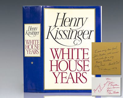 Boston: Little, Brown and Company, 1979. First edition of Kissinger's National Book Award-winning me...