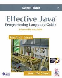 Effective Java Programming Language Guide (Java Series)
