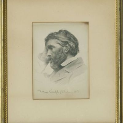 1865. Engraving of a photograph of the great writer and historian by Elliott and Fry, taken approxim...
