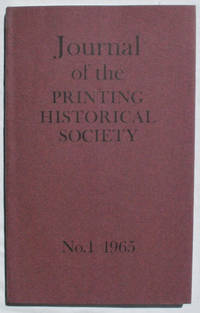 Journal of the Printing Historical Society, No. 1, 1965