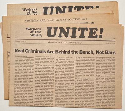 Chicago: Communist Party U.S.A./ Marxist-Leninist, 1981. Four issues of the semimonthly newspaper, t...