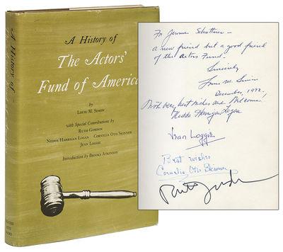 New York: Theatre Arts Books, (1972). First Edition. Hardcover. Near fine/near fine. Near fine in a ...