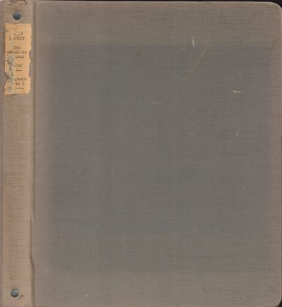 Good. 1943. Hardcover. Carbon copy typescript for what was to become John L. Sinclair's novel In Tim...
