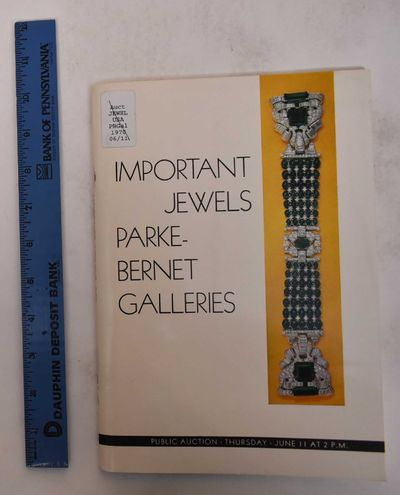 New York: Parke-Bernet Galleries, Inc, 1970. Softcover. VG-. Ex-library with usual marks. Minor wear...