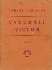 Vauxhall Victor: Operation and Maintenance Instructions