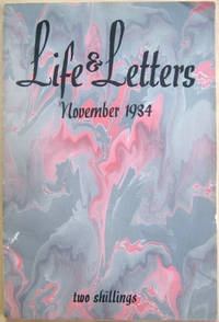 Life and Letters, Volume xi, No. 59, November 1934 by MacCarthy, Desmond (ed)