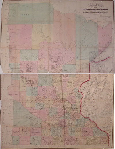 Boston: J.S. Sewall, 1866. unbound. very good(-). Swett, C.A.. Case map. Engraving with original han...
