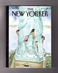 "image of The New Yorker - July 2, 2018. ""Yearning to Breathe Free"" Cover. Science of Pain; Channelling Middle School; Little St. Don; Far Right vs Free Speech; Tasmanian Tiger; Philosophy Illustrated; Terrance Hayes; Ojai Festival; Jackie Sibblies Drury"