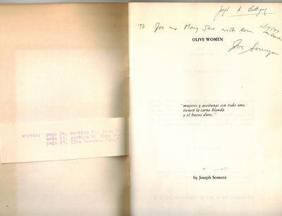 Los Cerrillos, New Mexico : San Marcos Press, 1976. SIGNED AND INSCRIBED BY AUTHOR on title page -