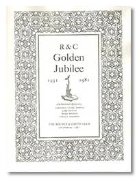 R & C GOLDEN JUBILEE 1931 - 1981 AN HISTORICAL EFFUSION BY ...