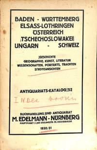 Catalogue 52/1930-1931: Baden - Württemberg - Elsass-Lothringen -  Össterreich -...