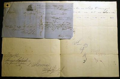 Philadelphia, PA: Not Published, 1863. Bill of lading & Entry of Merchandise form, completed in manu...