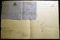 1863 Port of Philadelphia Manuscript Bill of Lading Entry of Merchandise Customs Duties for the Ship Oswingo (with) Attached Liverpool Shipping Document