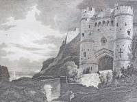 1811 Engraving, Carisbrook Castle, Isle of Wight [England]