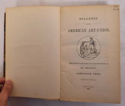 New York, 497 Broadway: American Art-Union, 1849. Hardcover. Good- (front cover is unattached, spine...