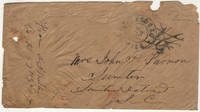A stampless cover from an officer in the 57th Georgia Infantry Regiment posted at Vicksburg, Mississippi as a parolee after he was wounded and captured during the Battle of Champion Hill (Baker's Creek)