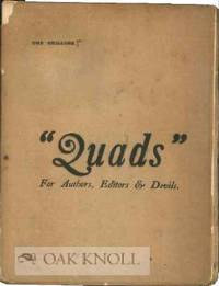 QUADS, FOR AUTHORS, EDITORS & DEVILS