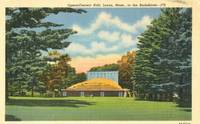Opera-Concert Hall, Lenox, Mass, in the Berkshires, unused linen Postcard