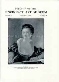 Bulletin of the Cincinnati Art Museum, Volume XI, Number 4,  October 1940