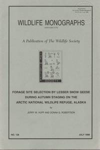 Forage Site Selection by Lesser Snow Geese During Autumn Staging on the Artic National Wildlife Refuge, Alaska
