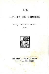Catalogue 223/1964?: Les droits de l'homme. Catalogue de Livres Anciens et  Modernes.
