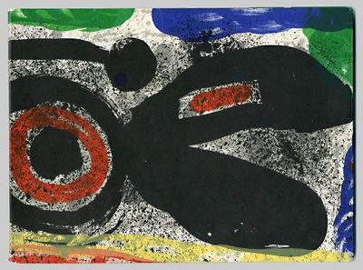 Genève: Galerie Gérald Cramer, 1969. Oblong small quarto. Original color lithographed wrappers ove...