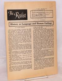 The realist [no.92-C] History as language and human garbage, by Chandler Brossard