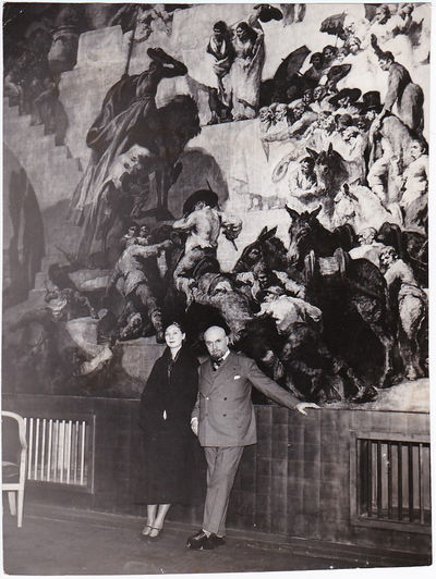 N.p.: N.p., 1930. Vintage photograph of artist Josep Maria Sert and his wife, sculptor Isabelle Rous...