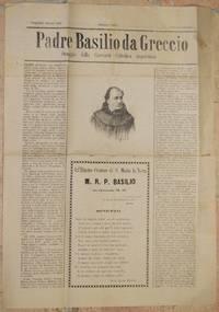 NAPOLI 31 MARZO 1889 PADRE BASILIO DA GRECCIO OMAGGIO DELLA GIOVENTU CATTOLICA NAPOLETANA
