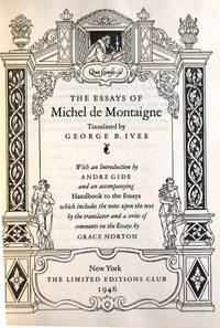 de essay michel montaigne selected The paperback of the shakespeare's montaigne: the florio translation of the essays, a selection by michel de montaigne  shakespeare's montaigne: the florio.