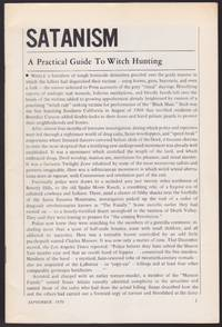 Satanism, a Practical Guide to Witch Hunting