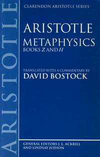 Metaphysics: Books Z and H.